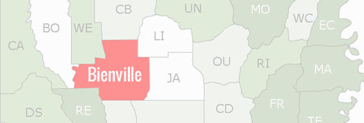 Bienville County Map