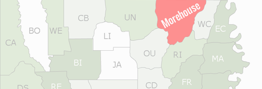 Morehouse County Map